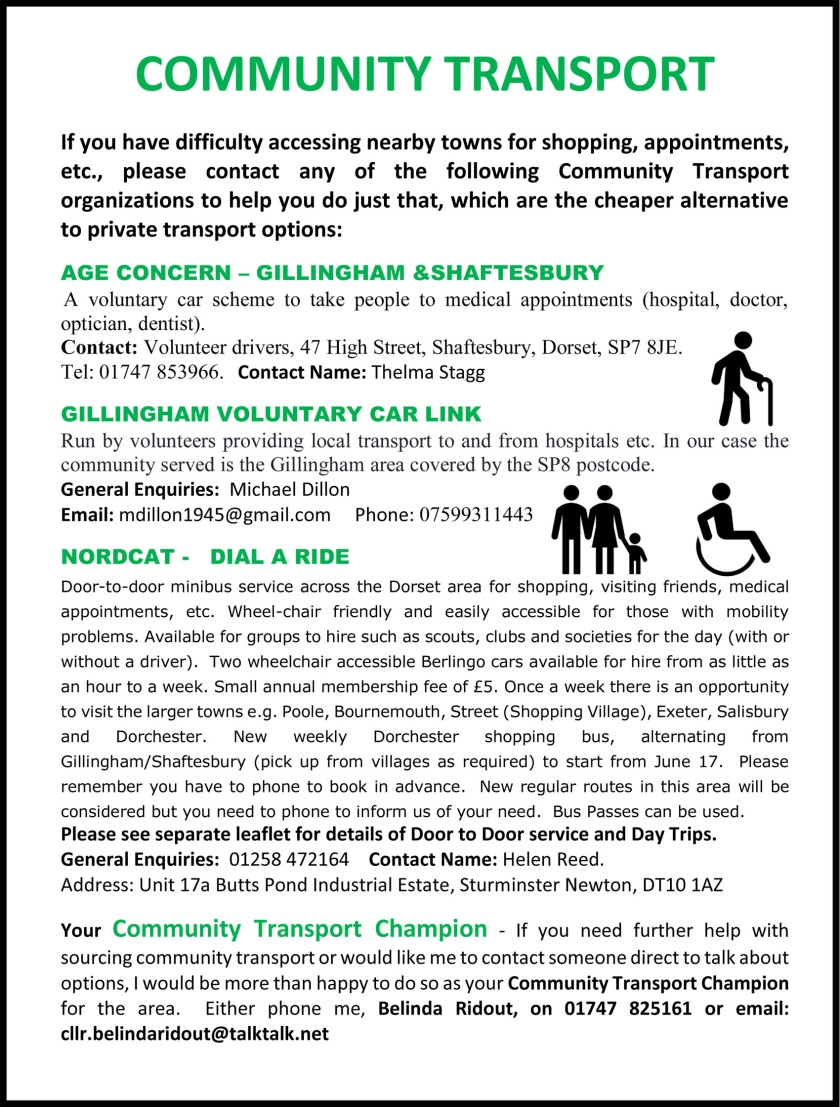 COMMUNITY TRANSPORT OPTIONS